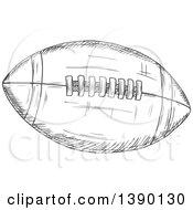 Gray Sketched Football