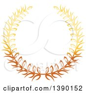 Gradient Gold Wreath