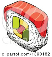 Clipart Of A Sushi Roll Royalty Free Vector Illustration by Vector Tradition SM