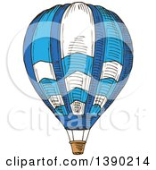 Clipart Of A Sketched Hot Air Balloon Royalty Free Vector Illustration by Vector Tradition SM