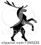 Clipart Of A Black Silhouetted Bull Elk Royalty Free Vector Illustration by Vector Tradition SM