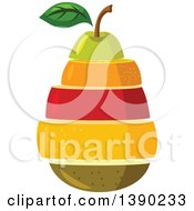 Clipart Of A Stack Of Fruits Royalty Free Vector Illustration