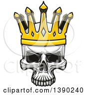 Clipart Of A Human Skull Wearing A Crown Royalty Free Vector Illustration by Vector Tradition SM