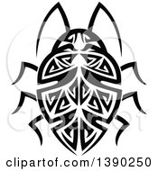 Black And White Tribal Styled Beetle