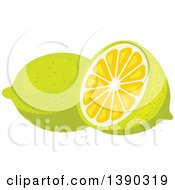 Clipart Of A Lemon Or Lime Royalty Free Vector Illustration