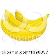 Clipart Of A Bunch Of Bananas Royalty Free Vector Illustration by Vector Tradition SM