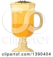 Clipart Of A Coffee Drink In A Tall Glass Royalty Free Vector Illustration