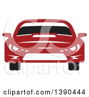 Clipart Of A Red Sports Or Race Car Royalty Free Vector Illustration