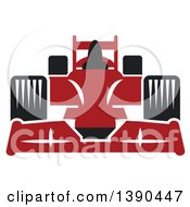 Clipart Of A Red Race Car Royalty Free Vector Illustration