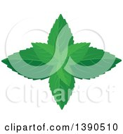 Clipart Of A Culinary Spice Herb Mint Royalty Free Vector Illustration