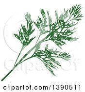 Clipart Of A Culinary Spice Herb Dill Royalty Free Vector Illustration