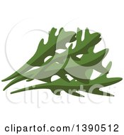 Clipart Of A Culinary Herb Arugula Royalty Free Vector Illustration