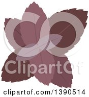 Clipart Of A Culinary Spice Herb Red Basil Royalty Free Vector Illustration