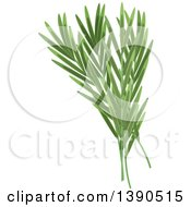 Clipart Of A Culinary Spice Herb Tarragon Royalty Free Vector Illustration
