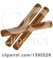 Clipart Of A Culinary Spice Cinnamon Sticks Royalty Free Vector Illustration