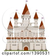 Clipart Of A Castle Royalty Free Vector Illustration