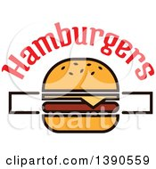 Clipart Of A Cheeseburger With Text Royalty Free Vector Illustration