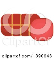 Clipart Of A Sausage Royalty Free Vector Illustration