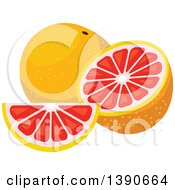 Clipart Of Grapefruits Royalty Free Vector Illustration by Vector Tradition SM