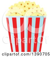 Clipart Of A Bucket Of Popcorn Royalty Free Vector Illustration by Vector Tradition SM