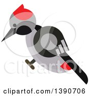 Clipart Of A Woodpecker Royalty Free Vector Illustration by Vector Tradition SM