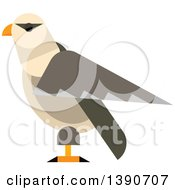 Clipart Of A Falcon Bird Royalty Free Vector Illustration