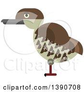 Clipart Of A Kiwi Bird Royalty Free Vector Illustration