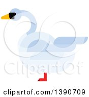 Clipart Of A Mute Swan Royalty Free Vector Illustration
