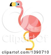 Clipart Of A Pink Flamingo Royalty Free Vector Illustration by Vector Tradition SM