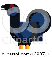 Clipart Of A Black Grouse Bird Royalty Free Vector Illustration by Vector Tradition SM