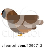 Clipart Of A Sparrow Bird Royalty Free Vector Illustration