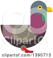 Clipart Of A Pigeon Bird Royalty Free Vector Illustration by Vector Tradition SM