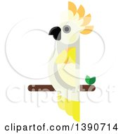 Clipart Of A Cockatoo Parrot Bird Royalty Free Vector Illustration