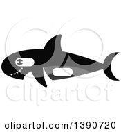 Clipart Of A Killer Whale Royalty Free Vector Illustration by Vector Tradition SM