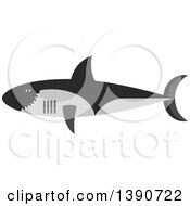 Clipart Of A Shark Royalty Free Vector Illustration by Vector Tradition SM