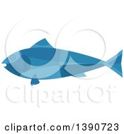 Clipart Of A Blue Tuna Fish Royalty Free Vector Illustration by Vector Tradition SM