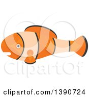 Clipart Of A Clown Fish Royalty Free Vector Illustration