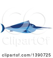 Clipart Of A Blue Marlin Fish Royalty Free Vector Illustration by Vector Tradition SM