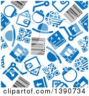Clipart Of A Seamless Background Pattern Of Retail Icons Royalty Free Vector Illustration by Vector Tradition SM