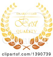 Clipart Of A Gradient Golden Retail Wreath With Text Royalty Free Vector Illustration