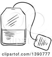 Poster, Art Print Of Black And White Sketched Tea Bag