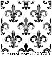 Clipart Of A Seamless Background Pattern Of Black And White Fleur De Lis Royalty Free Vector Illustration by Vector Tradition SM