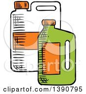 Clipart Of Sketched Containers Of Bio Fuel Royalty Free Vector Illustration by Vector Tradition SM
