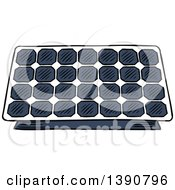 Clipart Of A Sketched Solar Panel Royalty Free Vector Illustration by Seamartini Graphics