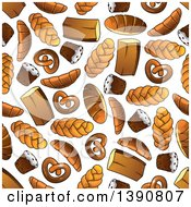 Clipart Of A Seamless Background Pattern Of Baked Goods Royalty Free Vector Illustration