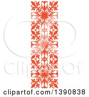 Orange Vintage Ornate Flourish Design Element Border