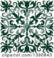 Clipart Of A Green Square Vintage Ornate Flourish Design Element Royalty Free Vector Illustration by Vector Tradition SM