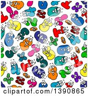 Clipart Of A Seamless Background Pattern Of Number Characters Royalty Free Vector Illustration by Vector Tradition SM