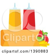 Clipart Of A Wrap With Condiments Royalty Free Vector Illustration