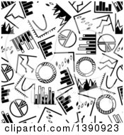 Clipart Of A Seamless Background Pattern Of Black And White Charts And Graphs Royalty Free Vector Illustration by Vector Tradition SM